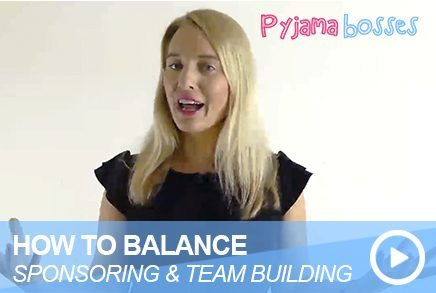 How To Balance Sponsoring & Team Building
