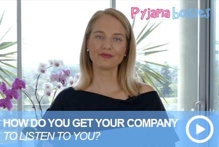 How Do You Get Your Company To Listen To You?